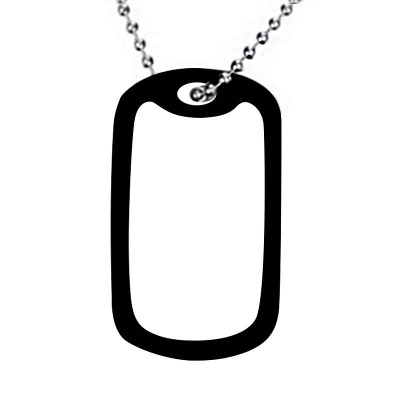 1PC Army Tag Badge Name Dog Tag Pendant Man Chain Necklace Black Color Stainless Steel Choker Charm Women Simple Jewelry Gift