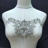 2019 high quality handmade bridal headpiece bridal sash,1pair heavy bead motif applique, crafted bead motif bodice