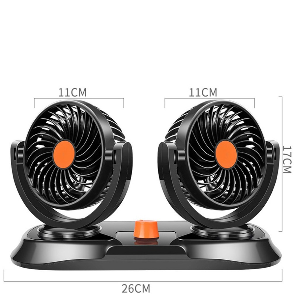 Double Head Car 24v Electric Fan For Car Accessories Parts