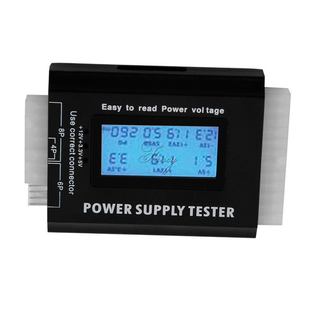 Power Supply Tester 20 24 Pin Sata LCD PSU HD ATX BTX Voltage Test ...