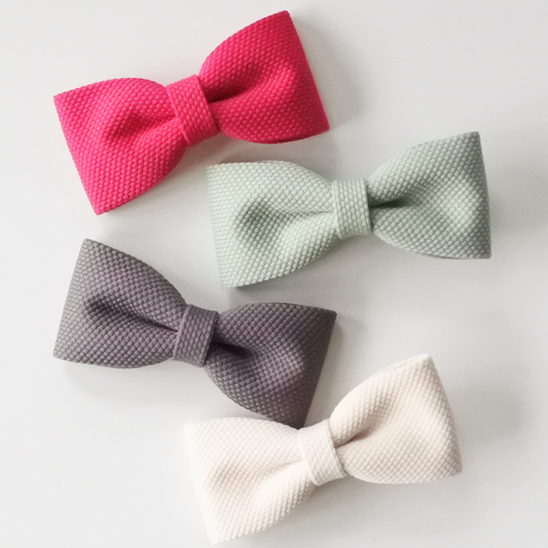Girl's Hair Accessories Girl's Accessories Self-Conscious Solid Colour Hair Bow Clips Girls Hairpins Lovely Bow Barrettes For Women Hot Sell Ladies Hair Accessories Shrink-Proof