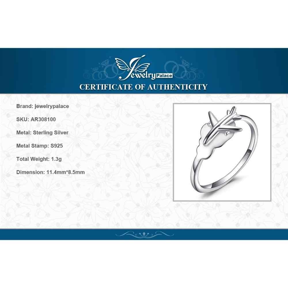 JewelryPalace Global เครื่องบินแหวน 925 เงินสเตอร์ลิงแหวนเปิด STACKABLE แหวนเงิน 925 เครื่องประดับ Fine เครื่องประดับ