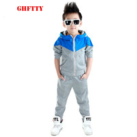 Children Clothing 2016 Baby Boys Tracksuits Autumn Winter Hoodied Coats And Jackets Pants Set Sports Suit