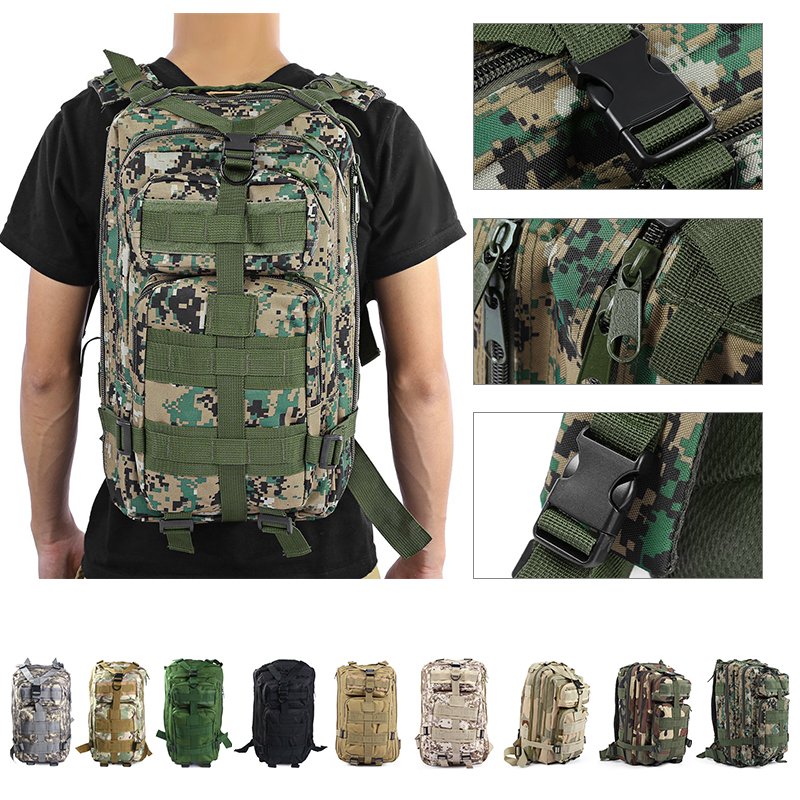 9colors 3P Outdoor Tactical Backpack 30L Military bag Army Trekking Sport Travel Rucksack Camping Hiking Trekking Camouflage Bag nylon tactical military backpack rucksack bags assault pack daypack waterproof hiking camping outdoor sport travel trekking bag