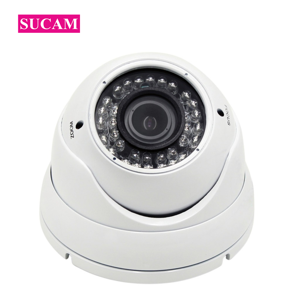 SUCAM 2MP 4MP AHD Varifocal Security Camera 2.8-12mm Zoom 30meters Night Vision Dome Vandalproof Infrared Surveillance IR Camera sucam outdoor 180 360 degrees panaromic security ahd camera 4mp infrared night vision video surveillance cameras 20 meters ir