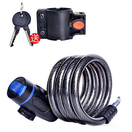 Universal Anti-Theft Bike Bicycle Lock Stainless Steel Cable Coil For Castle Motorcycle Cycle MTB Bike Security Lock With 2 Key