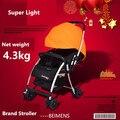 Sallei детская коляска свет сверхлегкий зима детская коляска автомобиль зонтик hadnd автомобиль амортизаторы