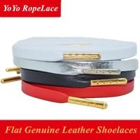 2017 Bestselling 52 Flat Shoelaces Genuine Sheepskin Leather Shoelaces Luxury Shoe Laces For Brand Shoes