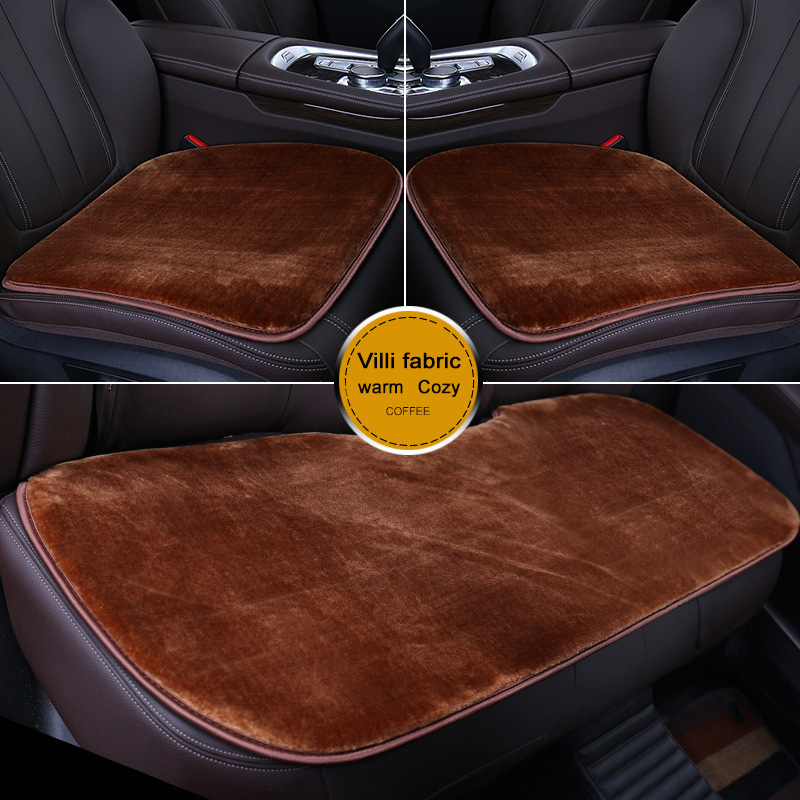 Winter warm plush car seat cover fur seat cover 1PCS Car Seat Covers Protector Driver Chair Pad Car-styling Breathable organizer