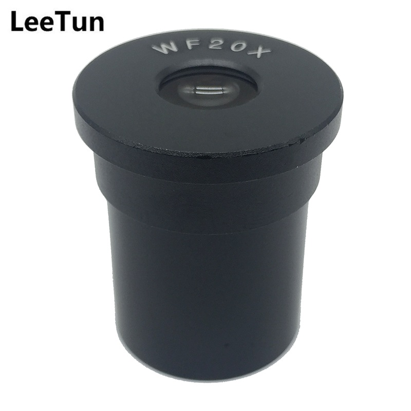 WF20X Eyepiece for Biological Microscope Wide Field Optical Lens Mounting Size 23.2mm Field of View 10mm One Piece Ocular