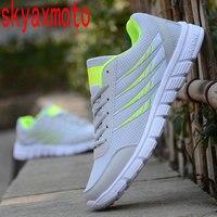 Skyaxmoto 2018 Brand Men Shoes Lightweight Stripe Breathable Mesh Casual Shoes Adult Shoes Men Plus Size