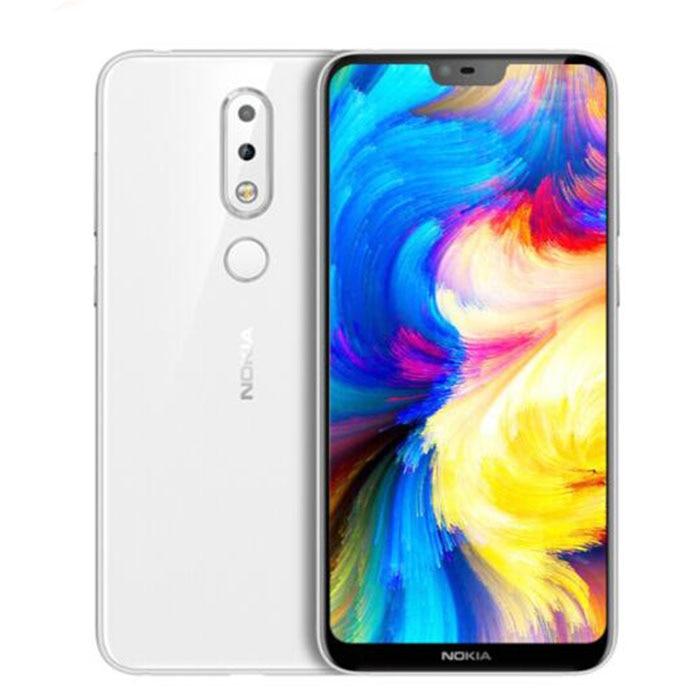 Nokia X6 2018 64g ROM 4g RAM 3060 mah 16.0MP 3 Caméra Double Sim Android LTE D'empreintes Digitales 5.8 pouce Octa Core Smart nouveau Mobile Téléphone