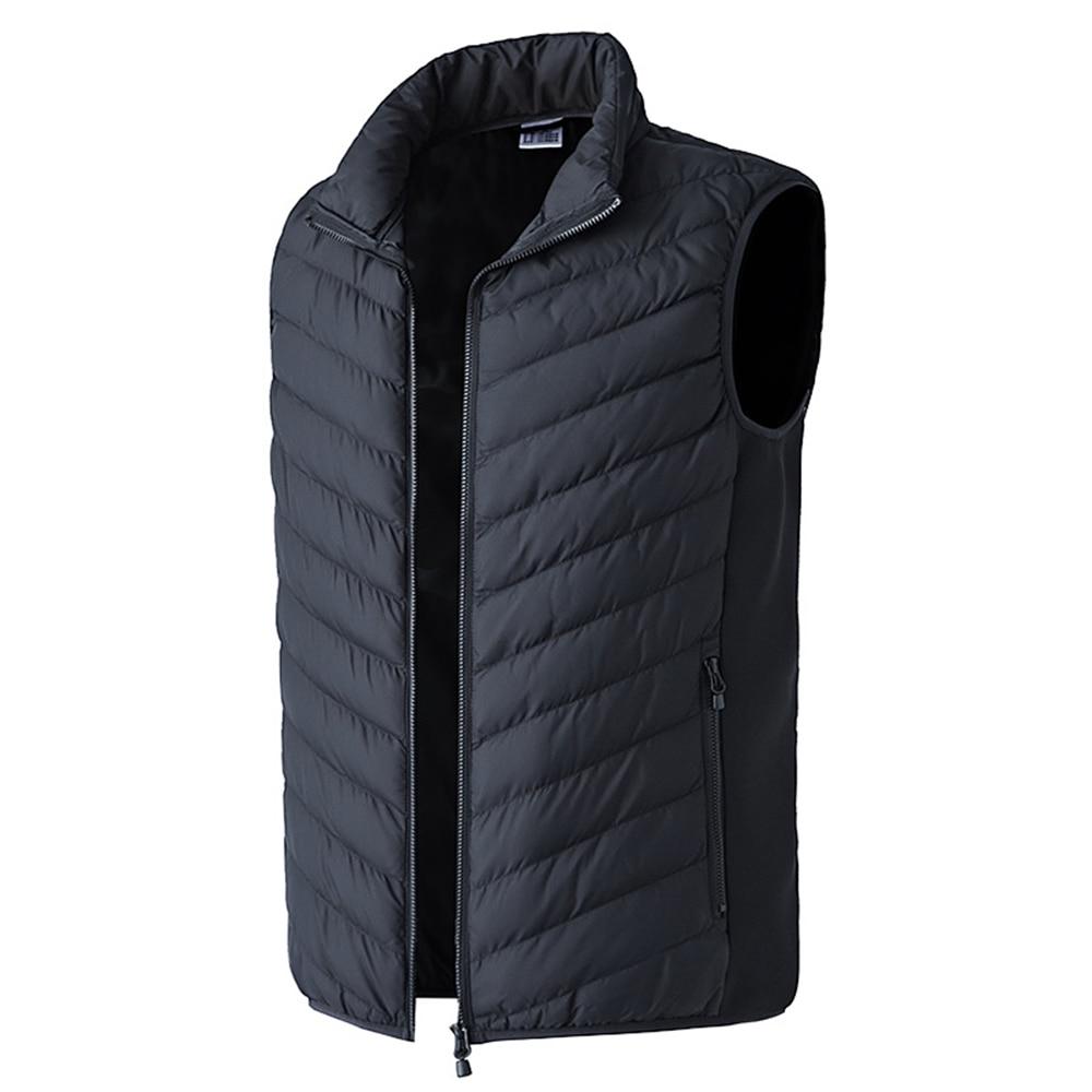 colete jaqueta inverno elétrico de fibra carbono