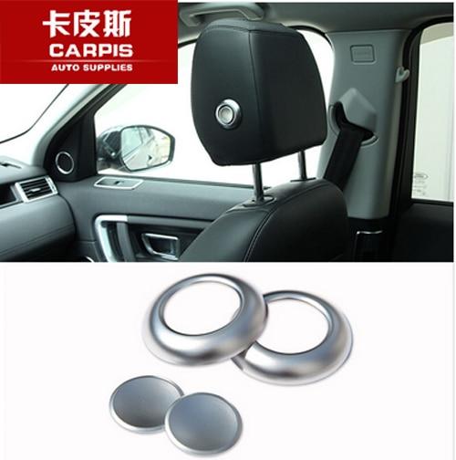 Krom bilhuvud Kudde Nackstödsknapp Kåpa Skärm för Land Rover - Bil interiör tillbehör