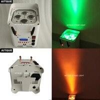 (16 lichter + FALL) led uplights drahtlose 4x12 watt uv kleine dmx wifi led par dmx drahtlose batterie angetrieben bühne lichter led par licht-in Bühnen-Lichteffekt aus Licht & Beleuchtung bei