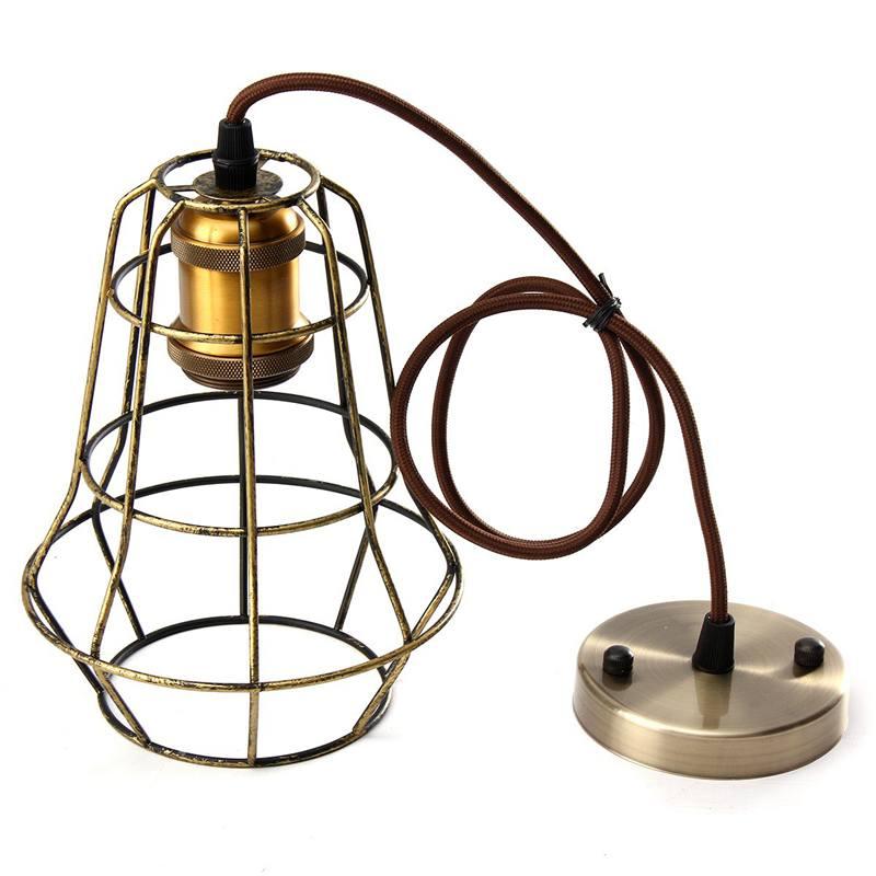 New Vintage Retro Edison Pendant Light Bulb Iron Guard Wire Cage ...