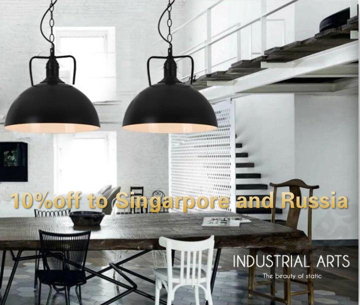 Obesek svetilke 30 cm hemisfere luč vintage industrijski slog - Notranja razsvetljava - Fotografija 1