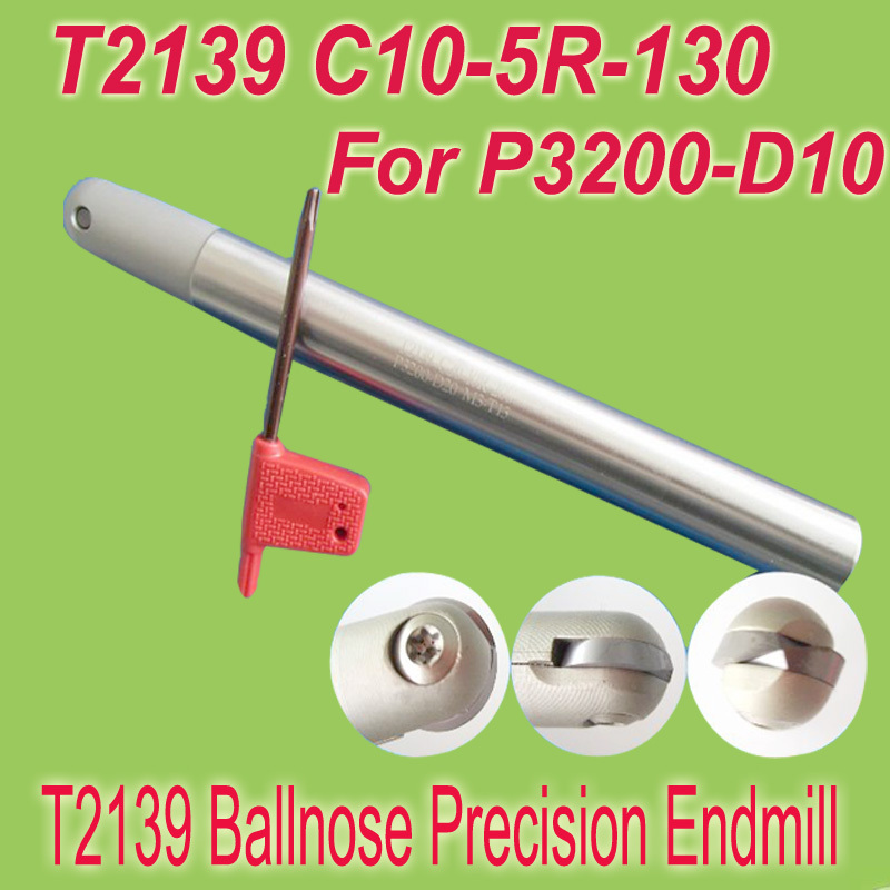 Free Shipping  T2139 C10-5R-130  Insertable Ball Finish Precision End Mill Cutting Tools for Walter P3200-10 new free shiping 1pcst2139 c10 4r 100 10pcs p3200 d08 discount insertable ball precision end mill for milling machine on sale