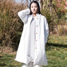 Женщины Зима Однобортный кнопку Древесины Пальто на Вате Хлопка Белье Теплая верхняя одежда Ovecoat Карманы Длинное Пальто