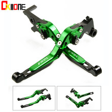 Up With logo For Kawasaki VULCAN/S 650cc 2015-2018 2016  Motorcycle Accessories CNC Adjustable Extendable Brake Clutch Levers