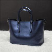 New American LUXURY Style Genuine Leather Women Shoulder Bag Brand Designer Cowhide Genuine Leather Handbags Skin
