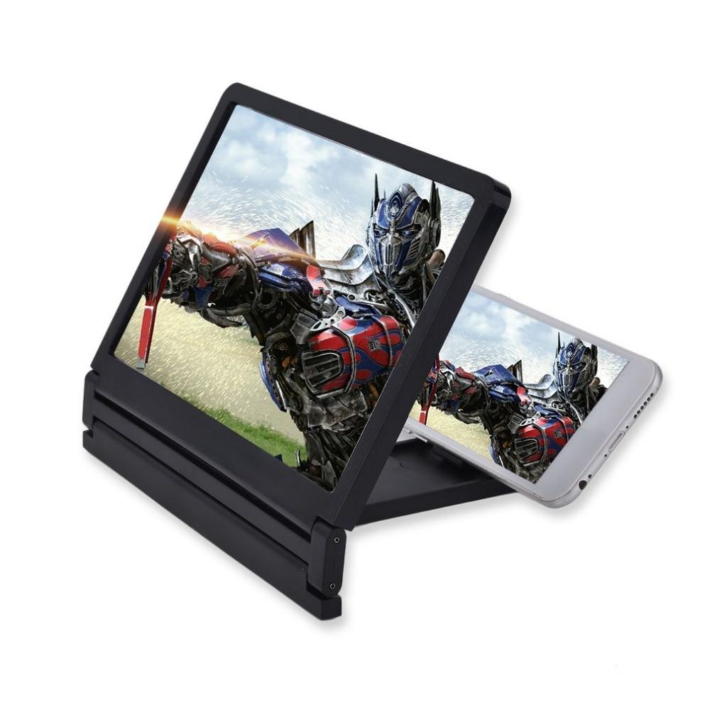 Portable Size Folding Magnifier Glass Screen HD Amplifier Stand Holder Support Smart Phone Cell Phone Screen Magnifier Bracket