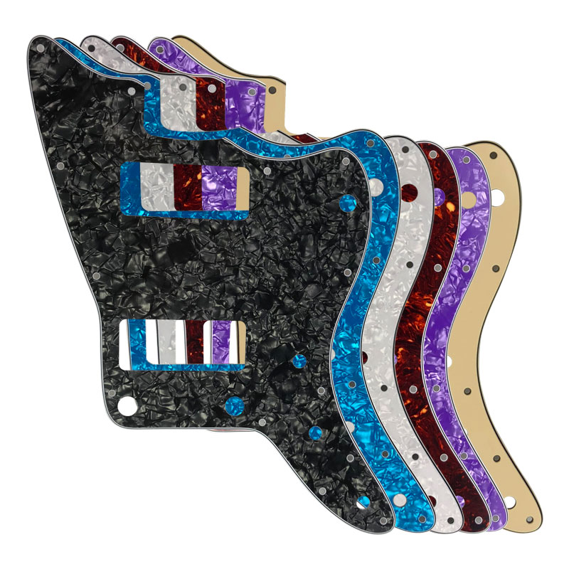 pleroo guitar parts for us no upper controls jazzmaster style guitar pickguard with p90 pickups. Black Bedroom Furniture Sets. Home Design Ideas