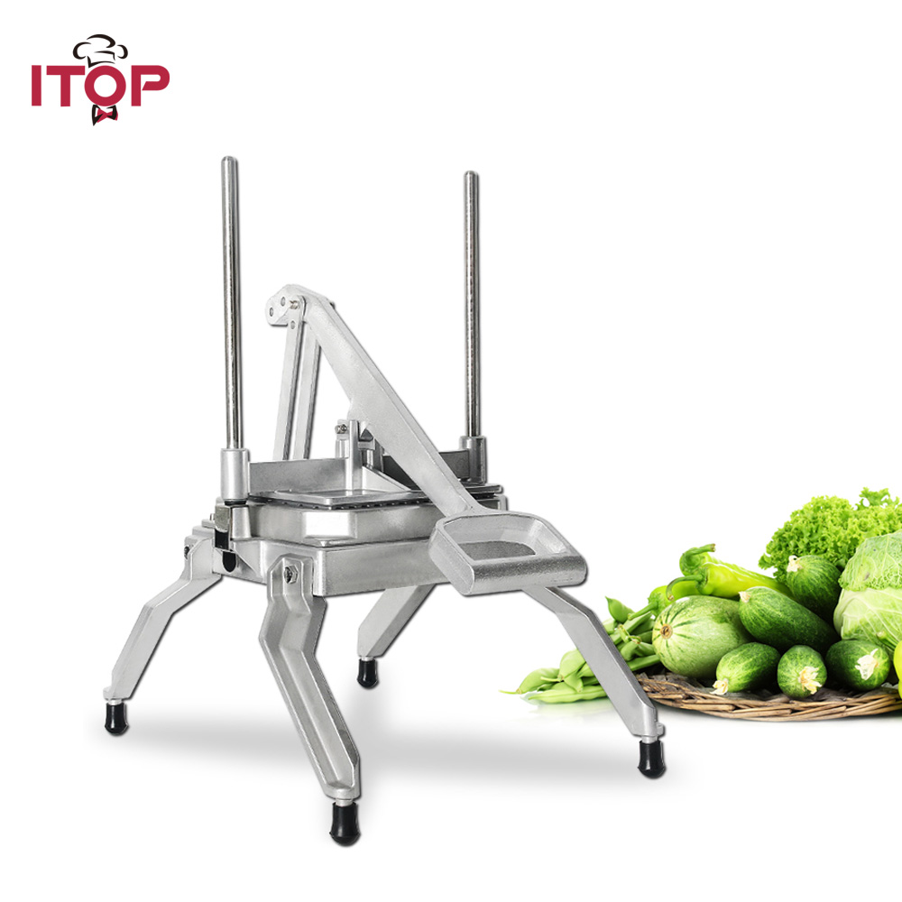 ITOP Manual lettuce chopper Diced Vegetable Cutter Kitchen Slicing shredding machine Food Processors Stainless Steel Blade
