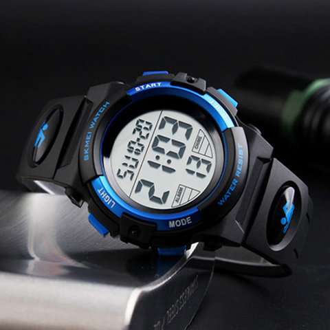 Children Watches LED Digital Multifunctional Waterproof Wristwatches Outdoor Sports Watches for Kids Boy Girls SKMEI 2018 Multan