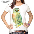 YEMUSEED 3D Tops Harajuku Animal OWL  T shirt Women Casual Blusa tumblr T-shirt Tees Plus Size XL