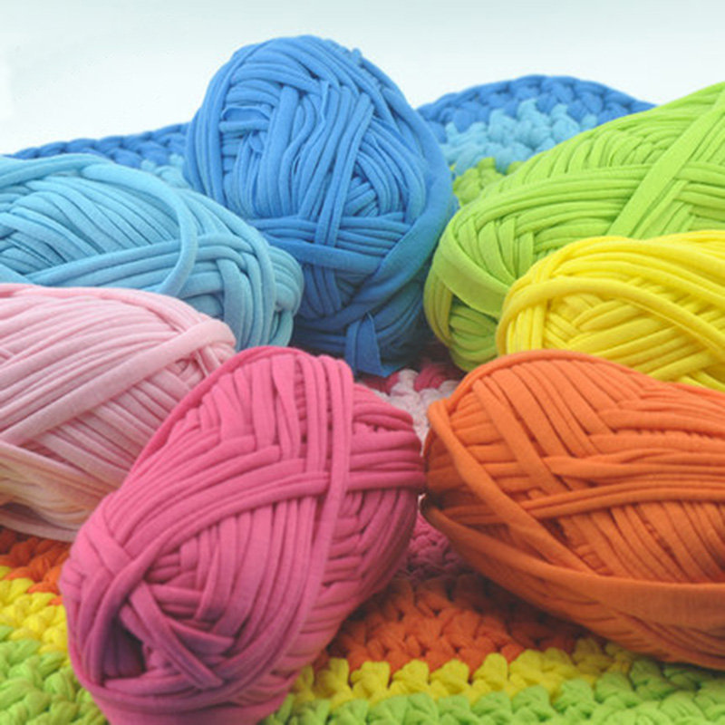 100g/lot New 2017 Super Soft Thick Chunky T Shirt Yarn For Knitting Blanket Carpet Handbag Crochet Cloth Yarn Lanas Para Tejer