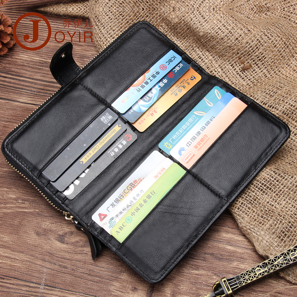 2017 New Arrival Men Genuine Leather Wallet Purse Long Hasp zipper wallet Handbag Clutch Bag Coin Purse Money Card Holder 9371