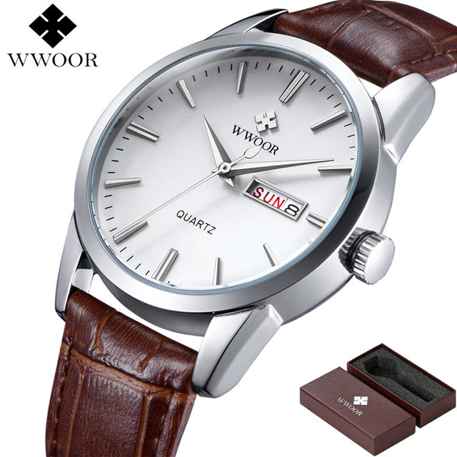 Men Watches Top Brand Date Day Genuine Leather Clock Luxury Gold Casual Watch Men's Quartz Sports Wrist Watch Relogio Masculino