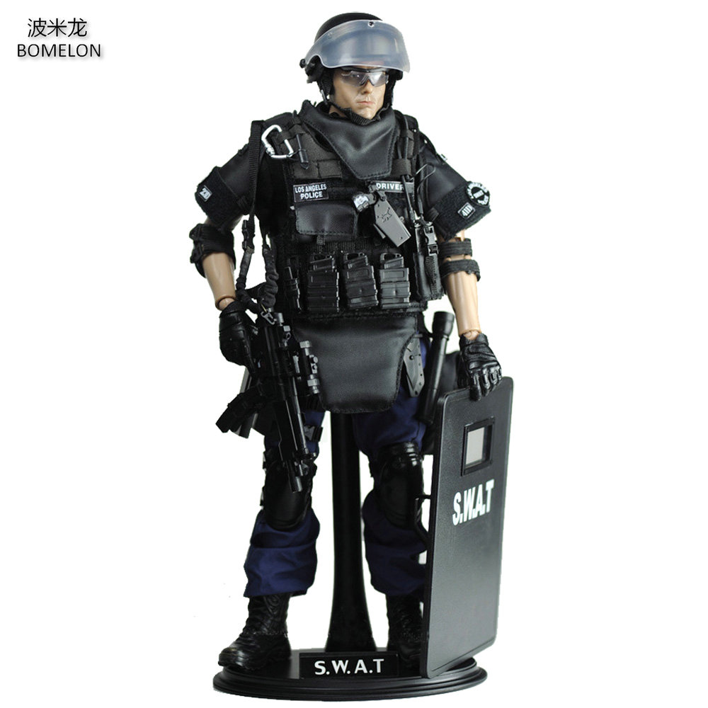 30CM SWAT POINT-MAN Special Police Action Figure Joint Doll 1/6 Scale Model Soldier Army Toys Children Boys Toys Birthday Gift