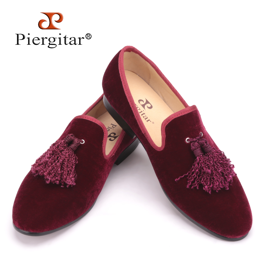 Handmade new fashion fabric tassel men velvet shoes British nobility style party and wedding loafers Men dress shoe men's flats 2016 new style handmade white color print gold flower china style men loafers wedding and party men shoes fashion men s flats