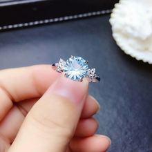 Женское кольцо из серебра 925 пробы с натуральным топазом