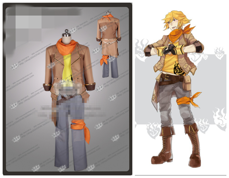 RWBY Cosplay Yellow Yang Xiao Long Gender Change Cosplay Costume Women and Men Cosplay rwby Uniform Coat+Pants+Vest+Waist bag