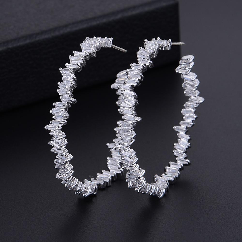 GODKI 42mm Luxury Iregular Geometry Circle Trendy Cubic Zirconia Women Wedding Party Earring High Jewelry Addiction