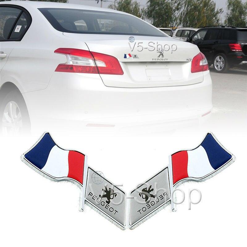 2x car body sticker oil fuel tank cap cover decal france flag for peugeot 307 peugeot 206 308. Black Bedroom Furniture Sets. Home Design Ideas