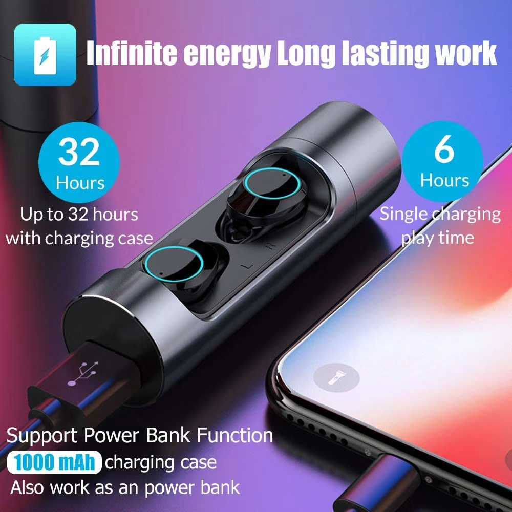497f444fa41 ... Touch Control TWS 5.0 Bluetooth 5.0 Earphone EDR Mini Twins Stereo  Microphone True Wireless Earbuds for