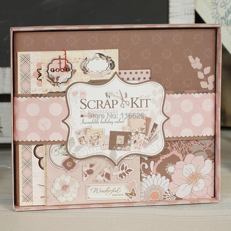 Online Shop Enogreeting Elegant Diy Handmade Scrapbooking Kit W