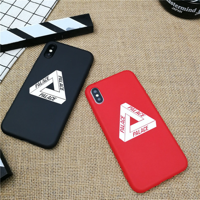 c26313ab2916 Street fashion PALACE phone case for iphone X XS MAX XR 10 8 7 6 6S plus 5  5s se luxury matte soft silicone cover Coque fundas
