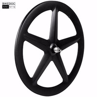 BIKEDOC Chinese Carbon 5 Spoke Wheel tubular only 700c Carbon Wheelset Fixed Gear Wheel 20mm Width