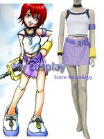 Anime Kingdom Hearts 1 Kairi Women's cosplay costumes for Halloween Cosplay parties Women Dress Summer Clothing