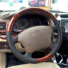 Steering-Wheel Wooden Land-Cruiser Lc120-Accessories Toyota for with Aluminum-Alloy 2003-2009
