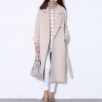 Шерстяное пальто женское длинное пальто зимнее шерстяное пальто для подиума модное черное плотное теплое шерстяное пальто наряд высокого