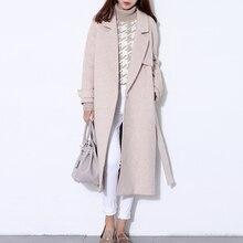 fc0b445b48b78f Cappotto di lana delle donne lungo maxi cappotto di inverno Misto Lana  cappotto runway fashion nero spessore caldo cappotto di l.