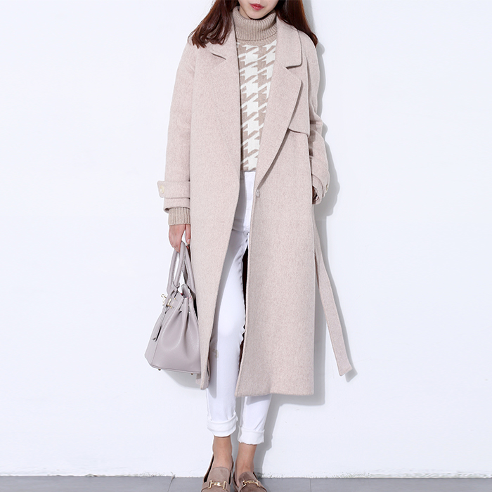 wool coat women s long maxi coat winter Wool Blends coat runway fashion black thick warm