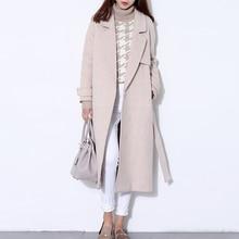 Шерстяное пальто женское длинное пальто зимнее шерстяное пальто для подиума модное черное плотное теплое шерстяное пальто наряд высокого качества