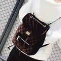 2017 Корейский Дизайнер Небольшой Рюкзак Новая Мода Ватные Bagpack Для Девочек-Подростков Рюкзак Женский Back Pack Искусственного Бархата Рюкзак